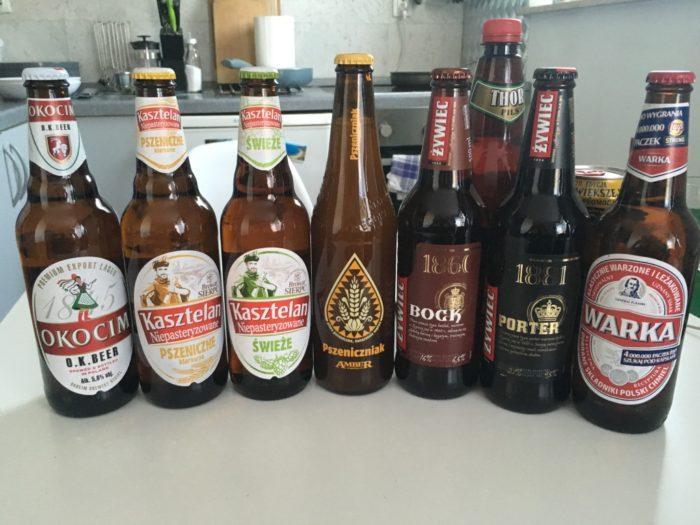 Okocim O.K. Beer, Kasztelan Pszeniczne, Kasztelan Świeże, Amber Pszeniczniak, Żywiec Bock, Żywiec Porter, Warka Beer